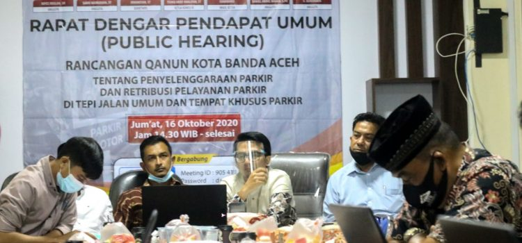Dewan Kota Gelar RDPU Raqan Penyelenggaraan dan Retribusi Pelayanan Parkir