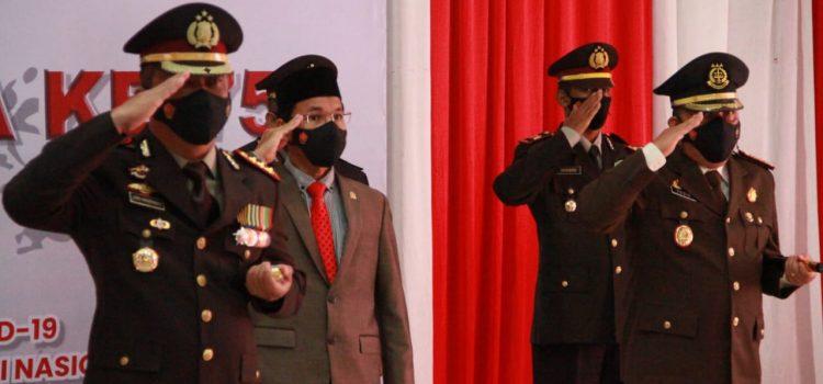 [FOTO]: Ketua DPRK Hadiri Apel Virtual Peringatan HUT Ke-75 Bhayangkara