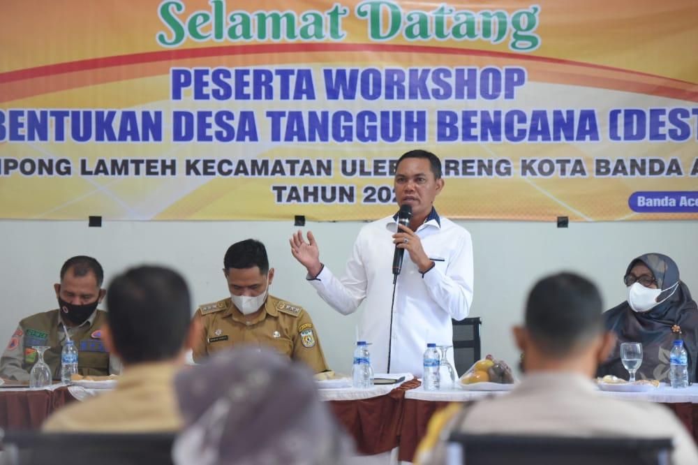 [FOTO]: Wakil Ketua DPRK Hadiri Lokakarya Pembentukan Destana Gampong Lamteh
