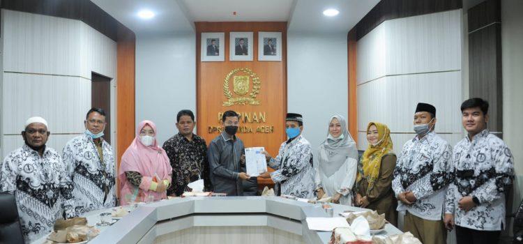 Silaturahmi ke Dewan, PGRI Banda Aceh Sampaikan Soal P3K dan Kompetensi Guru