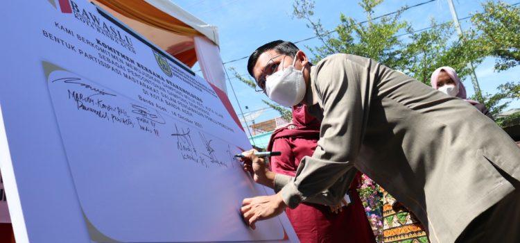 [FOTO]: Ketua DPRK Hadiri Peluncuran Pembentukan Gampong Demokrasi di Gampong Mulia